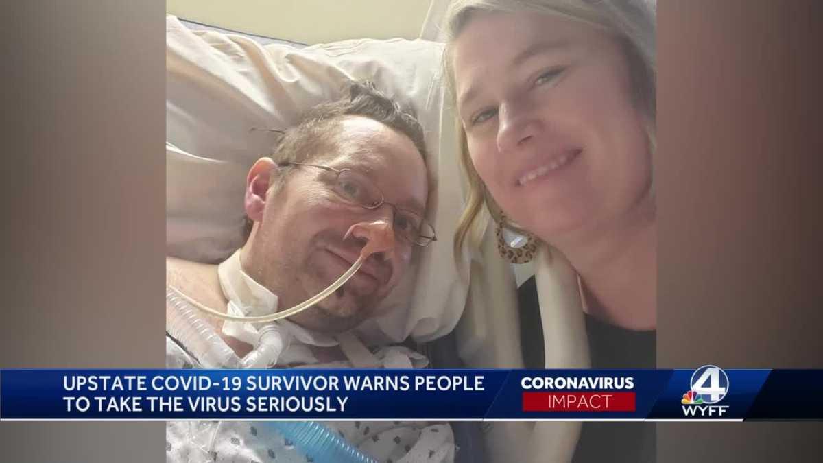 Hombre del norte del estado dice que su esposa lo sacó del coma después de más de 2 meses de estadía en el hospital con COVID-19