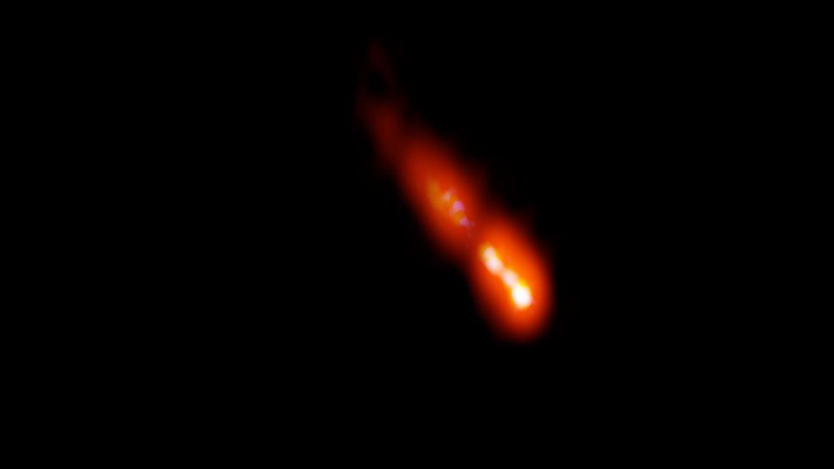 Se ha detectado un chorro radiactivo masivo del universo temprano